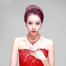 Czerwona Luksus Mody Biżute...