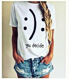 Super koszulki U decide. Nowa niska cena. Zapraszam do zakupów. Link w koment...