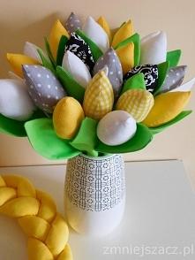 Wiosenny bukiet bawełnianych tulipanów - więcej na facebook @brzostula :)