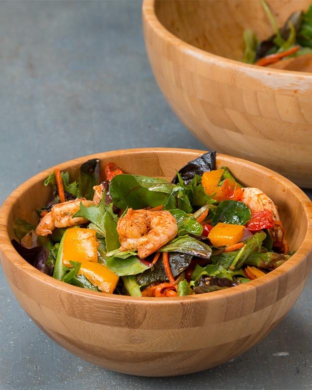 Roasted Shrimp And Veggie Salad