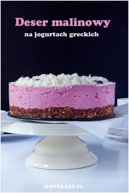 Deser z malinami na jogurtach greckich