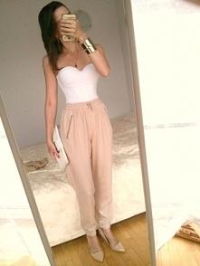 Nowe H&M 34 spodnie wys...