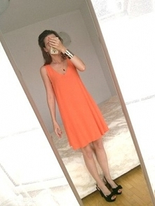 Oversized sukienka pomarańc...