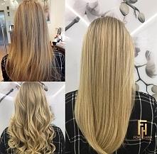 blond z Olaplex
