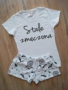 Piżamka z ręcznie malowaną koszulką :) Zapraszam! fb : luludiy