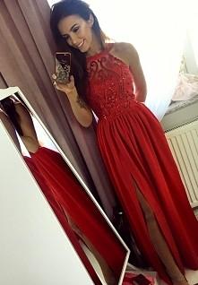 Czerwona długa sukienka Illuminate <3 <3 <3