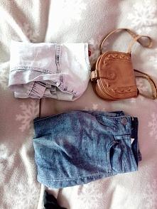 Proponowany zestaw rzeczy do sprzedania: (spodnie z sinsay, torebka, kamizelk...