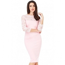 Elegancka różowa sukienka m...