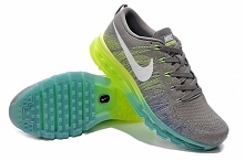 Air max flyknit grey white blue green