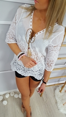 Biała bluzka Natural Cotton:) Nowość