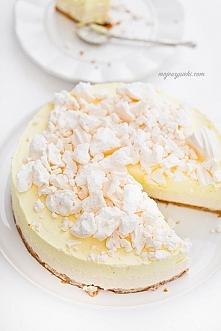 SERNIK Z MUSEM CYTRYNOWYM I BEZĄ lemon meringue cheesecake