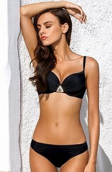 Lorin L2130 kostium kąpielowy Elegancki dwuczęściowy kostium kąpielowy, wykonany w całości z gładkiego materiału, miseczki wykonane z profilowanej pianki