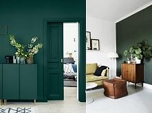 Butelkowa zieleń we wnętrzach <3 Elegancka i szlachetna