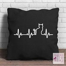 Poduszka Kocie EKG Kot