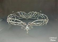 piękny srebrny diadem elficki