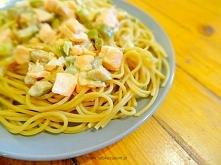 Szybkie spaghetti z łososiem i kaparami