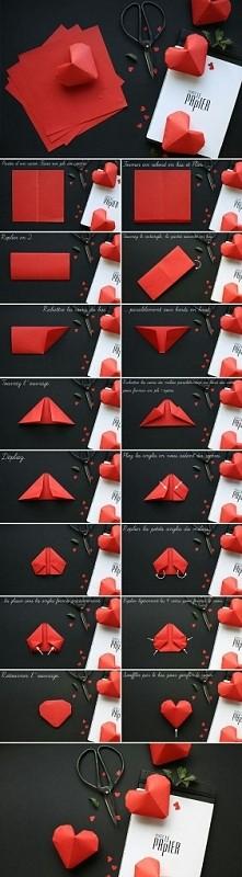 DIY- serduszko z papieru