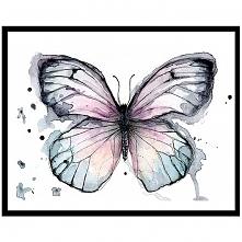 Motyl w fioletach, 21x30 cm, A4