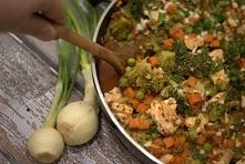 Kurczak duszony z warzywami. Przepis w komentarzu.
