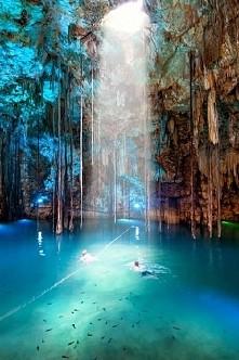 Jaskinia Cenote Dzitnup w Meksyku :)