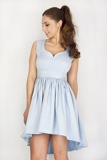 Pastelowa Sukienka asymetryczna idealna na wiosnę! Dostępna już teraz na www. sopsi. com. pl  Błękitna sukienka, pastelowa sukienka, sukienka z dekoltem, sukienka na wesele, suk...