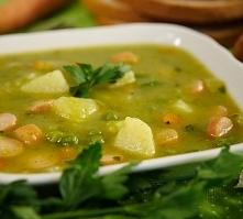 Pyszna zupa z zielonego groszku, po przepis klikamy w fotkę :)