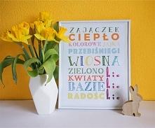 Wiosenno - wielkanocne plakaty do druku