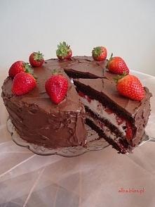 Składniki: Biszkopt czekoladowy: 175 g mąki 40 g kakako 225 g miękkiej margar...