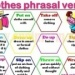Clothes phrasal verb