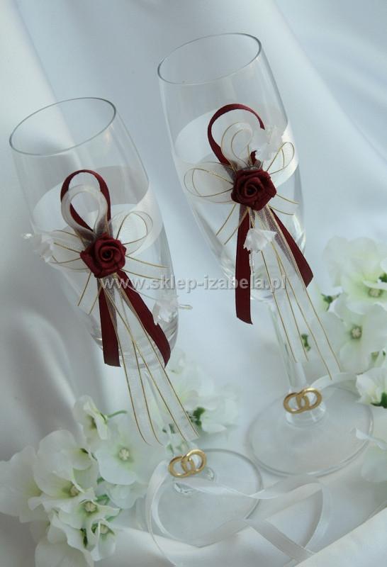 kieliszki dla Młodej Pary, wesele