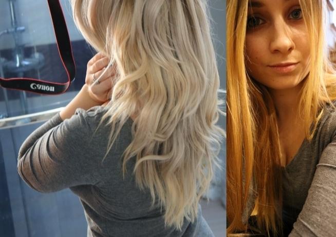 nowe włosy :) jak oceniacie?  <<obecnie te po lewej/chłodny blond>>