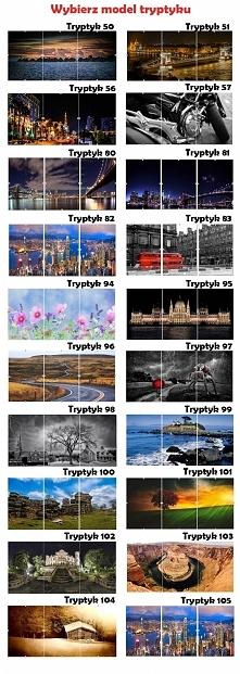 Tryptyk w antyramie. Trzy części jednego obrazu, każda w formacie A2, A3 lub A4. 20 wzorów do wyboru w trzech rozmiarach . Zobacz nasze tryptyki na allegro użytkownik Rak-bis