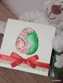 Jajko z różami :)