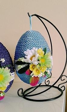 Wielkanocne jajko ze sznurka - @brzostula