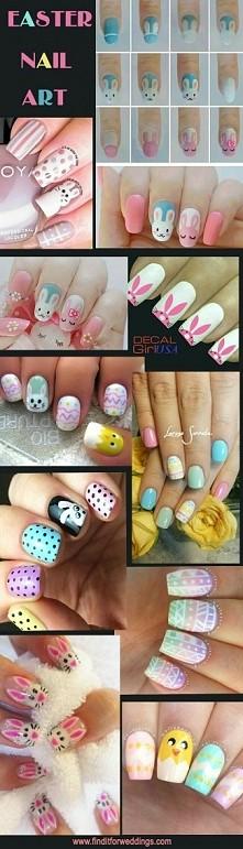 Słodkie Wielkanocne paznokcie