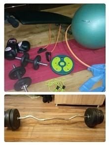 Moje skromne wyposażenie własnej siłowni ;)