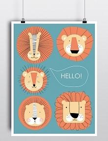plakat hello lew