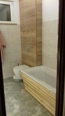 Łazienka po remoncie - wykonanie męża :)