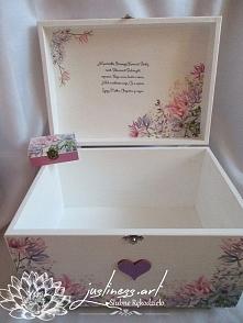 Prezent komunijny: kuferek + pudełeczko na biżuterię fb/justiness.art
