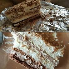 Ciasto na herbatnikach kakaowych i zbożowych z masą kakaową i migadałową - pr...