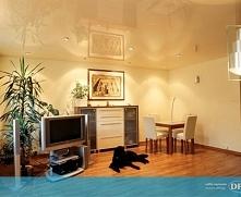 Jasny, dobrze oświetlony salon, w którym zastosowaliśmy powłoki DPS z efektem...