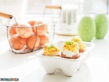 Jajka faszerowane paluszkami krabowymi, przepis po kliknięciu w zdjęcie