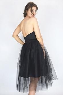 Czarna sukienka tiulowa w serduszko <3 w cenie promocyjnej: 219,00 zł PRODUKT POLSKI  www. sopsi.com.pl
