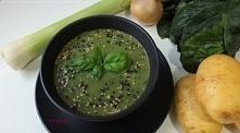 Zupa krem z porami, ziemnia...