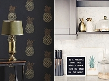 Ananasowy zawrót głowy :) ananas we wnętrzach  Dodatki, inspiracje, cały artykuł po kliknięciu w zdjęcie lub na PoliszDesign . pl