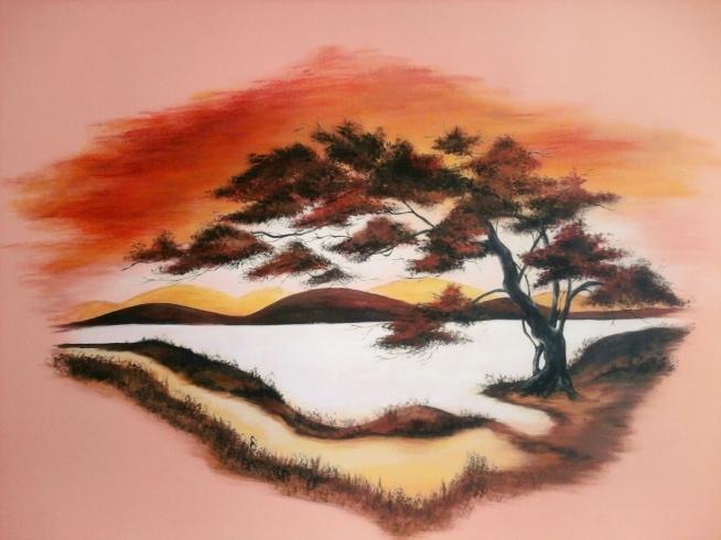 Egzotyczne drzewo mojego autorstwa, inspiracja z internetu.