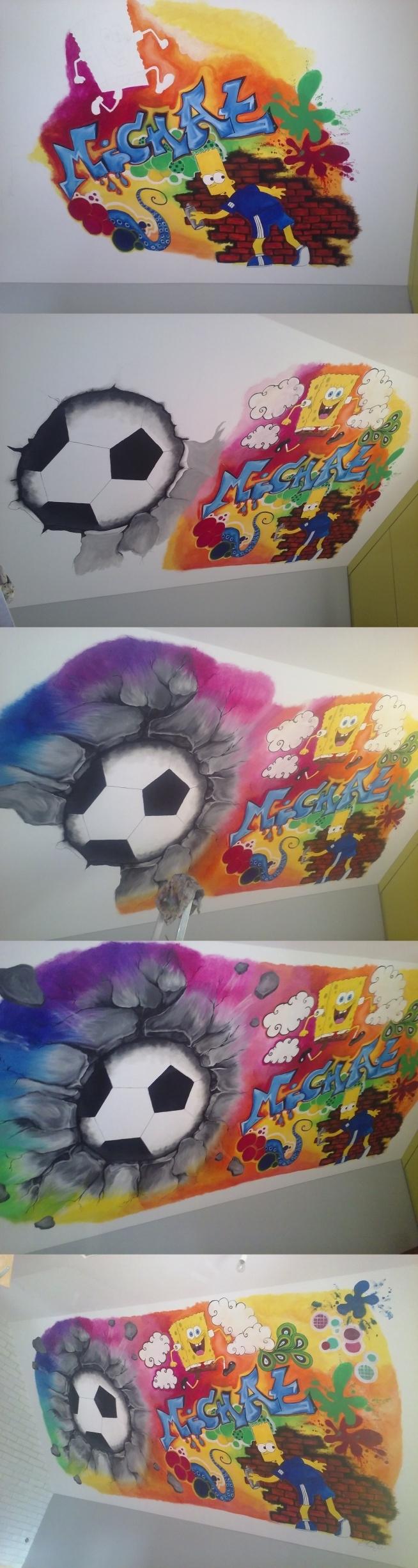 graffiti na ścianie mojego autorstwa