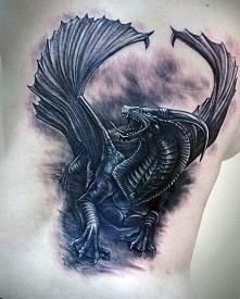 amazing dragon 3d tattoo