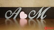 litery, inicjały, napisy - lite drewno, rękodzieło :)