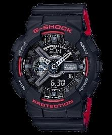 CASIO G-SHOCK GA-110HR-1AER to męski zegarek sportowy zasilany baterią. Posiada wytrzymałą kopertę odporną na uderzenia i wstrząsy wykonaną z tworzywa. Czasomierz jest wodoodpor...